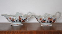 Pair of two Chinese Imari sauce bowls, 18th century in perfect condition.