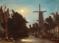 Lavandières au bord du canal, près de Rotterdam