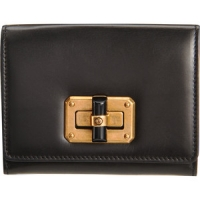 Lanvin Black Leather Happy Mini Wallet
