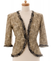 Chanel Multicolor Fantasy Tweed Fringed Jacket 03P - Chanel