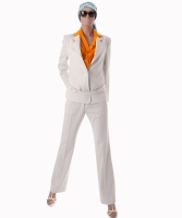 Yves Saint Laurent Ivory Wool Pantsuit - Yves Saint Laurent