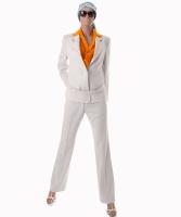 Yves Saint Laurent Ivory Wool Pantsuit
