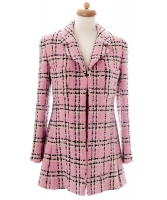Chanel Pink, Black and White Checkered Jacket