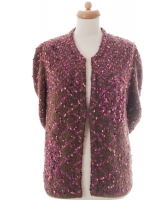 Chanel Raspberry Wool Blend Cardigan 01A