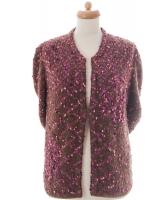 Chanel Raspberry Wool Blend Cardigan 01A