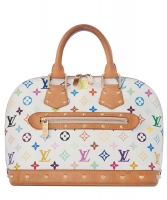 Louis Vuitton Handtas Alma Wit Multicolor Monogram Canvas - Louis Vuitton