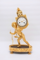 A fine French Empire ormolu mantel clock 'Magic Lantern', circa 1800