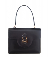 Hermès 'Sandrine' Brown Boxcalf Leather Shoulder Bag