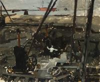 Construction work in Amsterdam - George Hendrik Breitner (Dutch, 1857-1923)