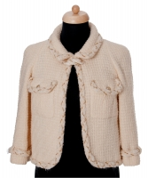 Chanel Ivoorkleurige Tweed Blazer 07A