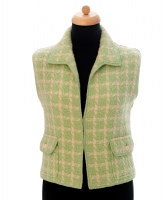 Chanel Green Tweed Vest 96P