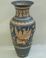 Pair terracotta Grand Tour vases