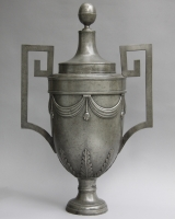 Pewter wall fountain
