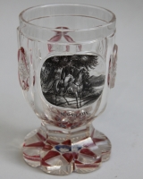 Bohemian glass 'Napoleon on horseback'