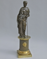 Bronze statue of a classical female figure