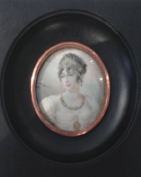 Portrait miniature of Caroline Bonaparte