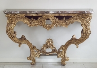 French Gilt-wood Louis XV Console Table