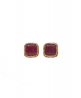 Chanel Red Gripoix Clip On Earrings Collection 25