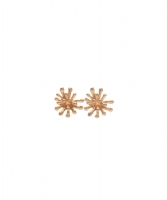 Christian Lacroix Chrysanthemum Flower Clip On Earrings - Christian Lacroix