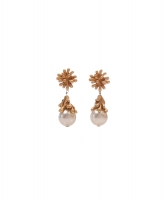 Christian Lacroix Anemone Pearl Drop Clip On Earrings
