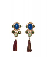 Christian Lacroix Tassel Drop Clip On Earrings