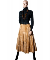 Valentino Weasel Fur Flared Skirt