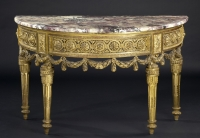North-Italian Louis XVI Demi-lune Console Table