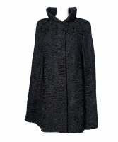 By Rademakers Black Astrakhan Fur Cape