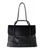 Hermès Initiale Black Leather Shoulder Bag