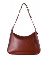 Delvaux Pensée Brown Leather Shoulder Bag