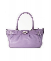Salvatore Ferragamo Marisa Purple Leather Satchel - Salvatore Ferragamo