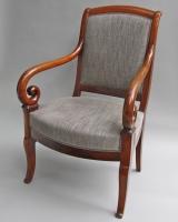Pair mahogany armchairs
