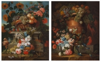 Pair of Flower Still lifes