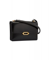 Hermès Fonsbelle Black Leather Shoulder Bag