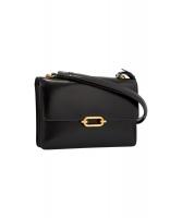 Hermès Fonsbelle Black Leather Shoulder Bag