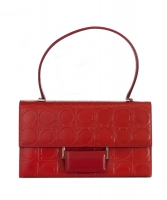Salvatore Ferragamo Red Leather Gancini Flap Bag