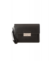 Versace Black Saffiano Leather Travel Pouch