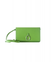 Ralph Lauren Green Vachetta Stirrup Crossbody Bag