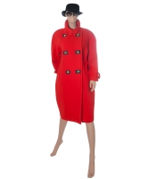 Guy Laroche Mantel in Rood Wol - Guy Laroche