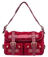 Louis Vuitton Red Velour Clyde Mon Shoulder Bag - Limited Edition