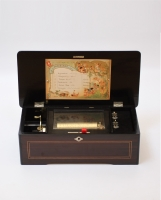 A Swiss rosewood Mermod Fréres cylinder music box, circa 1885