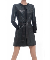 Chanel Leather Skirt Suit 06A - Chanel