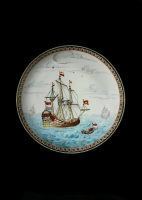 Chine-de-Commande plate, of the VOC-ship 'Zeeland'