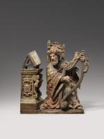 Koning David op de Harp