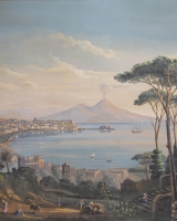 Pair Grand Tour views of Naples