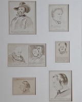 Pieter van Loon: seven small drawings 'Character Studies'