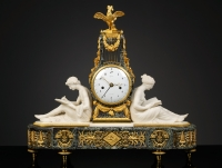 French Louis XVI Mantel Clock by Lepaute