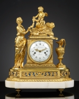 French Louis XVI Mantel Clock, la Toilette de Venus
