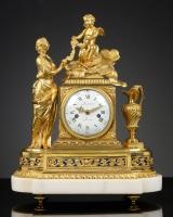 French Louis XVI Mantel Clock, la Toilette de Venus