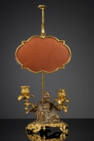 Gilt Bronze Louis XV Candelabre with Magus
